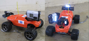Hydraulic Inspection Vehicle Explorer (HIVE), a radio-controlled car that takes lights and a camera into culverts and transmits inspection data wirelessly to a tablet.
