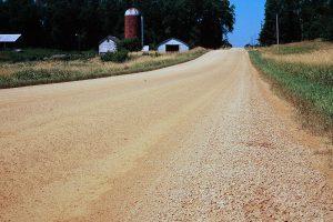 Rural gravel road
